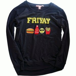 Rebellious One Juniors FriYAY Patch Graphic Black